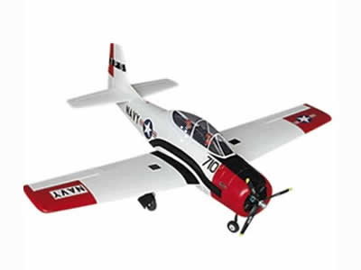 Dynam T-28 Trojan Red V2 1270mm (50 inch) Wingspan PNP RED RC airplane